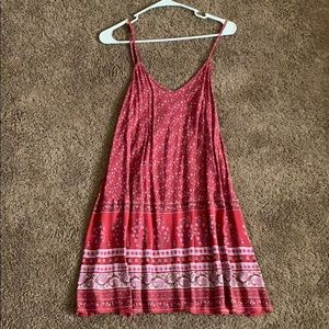 AEO red patterned dress